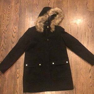 Jcrew size 4 black pea coat